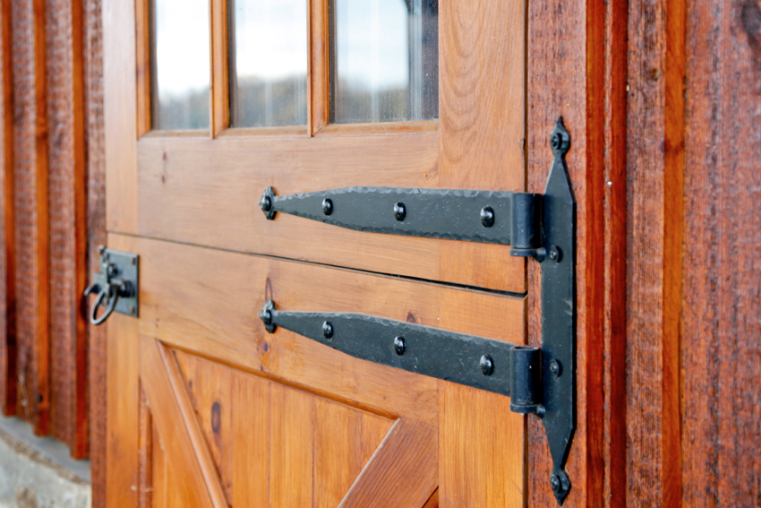Merveilleux Detail Of Strap Hinges On Custom Dutch Door